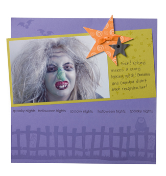 H scrapbook page