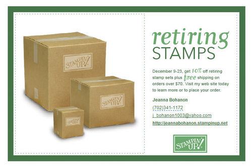 Retiring sets postcard