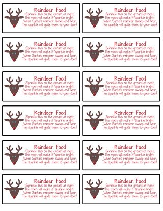 This is a graphic of Fabulous Reindeer Food Printable