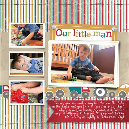 2012 Stampin Up! Artisan Design Team entry - Jeanna Bohanon Our Little Man - On the Go kit