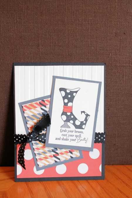 Bootiful Stampin' Up! Halloween Card
