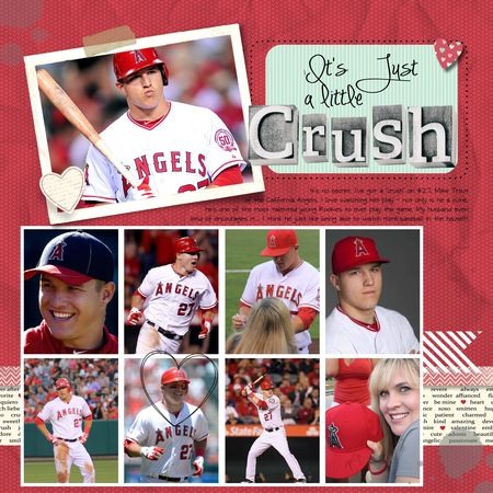 Stampin' Up! Artisan MDS digital scrapbook page, Mike Trout