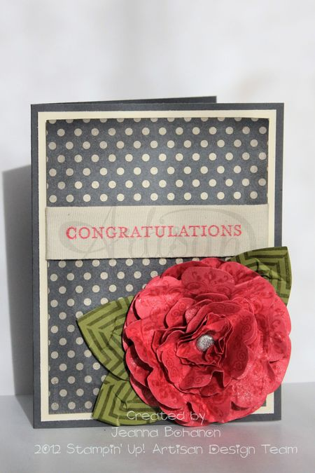 Stampin' Up! Artisan Design Team September card, Howlstooth and Scaringbone, Jeanna Bohanon