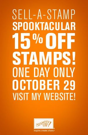 15% off Stampin' Up! Stamps