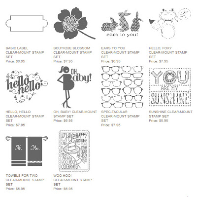 Stampin' Up! single stamps
