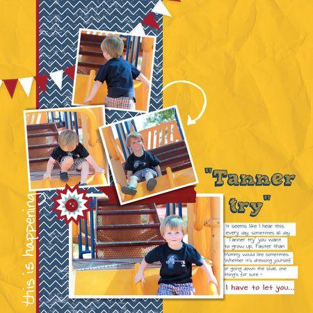 MDS Blog Hop, My Digital Studio, Jeanna Bohanon, little boy scrapbook page, 4 photos