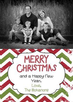 Custom Christmas Card 1 front